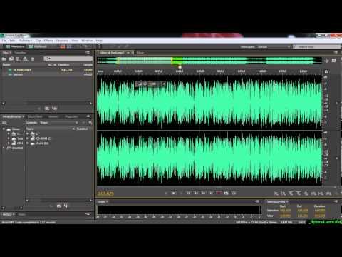 Adobe Audition - Giriş- Arayüz - Proje açma