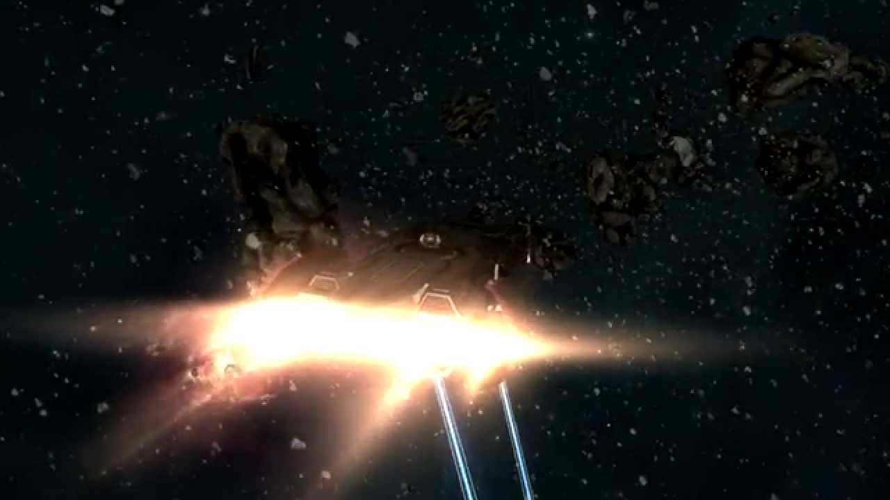 Mining a Asteroid in EVE Online the Space Empire ...