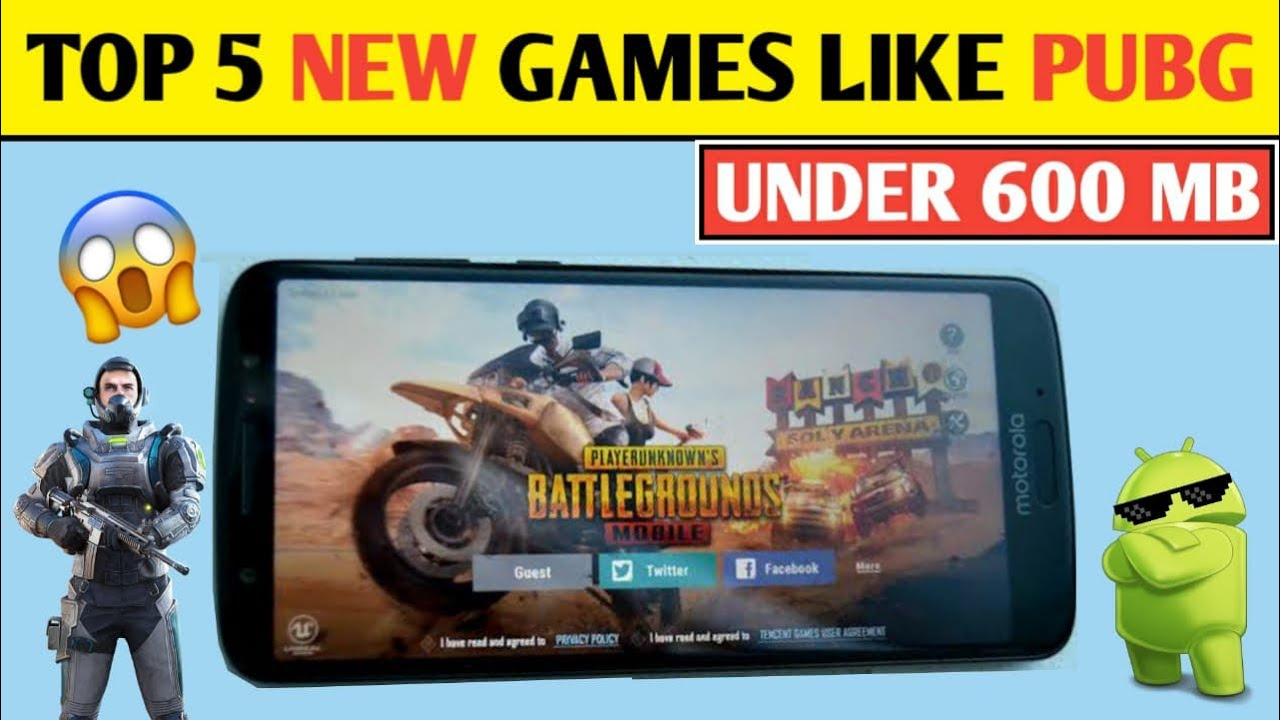 TOP 5 *NEW* GAMES LIKE PUBG / PUBG LITE [ UNDER 600 MB ] FOR 1GB RAM MOBILE | TOP 5 GAMES LIKE PUBG
