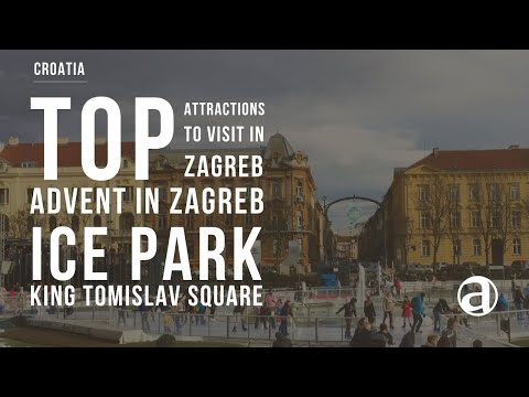 Advent in Zagreb | Ice Park | King Tomislav Square Walkthrough by Day 2017/2018 | Travel antropoti