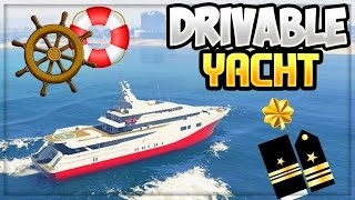 GTA 5 - DRIVABLE YACHT GAMEPLAY!!! (Grand Theft Auto 5 Mods)
