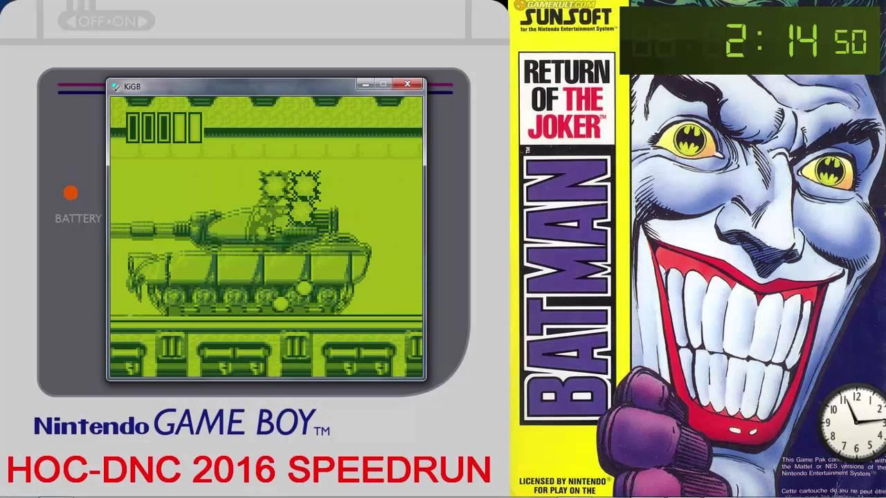 Batman Return Of The Joker Gameboy Speedrun In 05 49 By Hoc Dnc