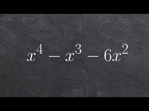 How To Factor A Trinomial Raised To The 4th Power By Factoring Out GCF