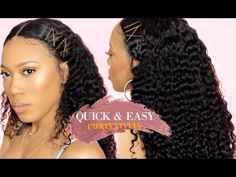 styles to do with curly hair amp easy hairstyles for curly hair bobby pins 4925