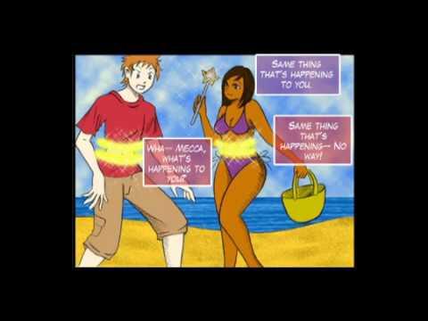 nude at beach cartoons