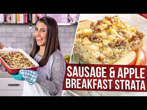 Sausage And Apple Breakfast Strata