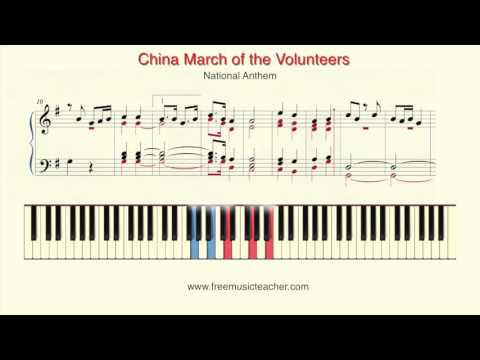 China March of the Volunteers National Anthem