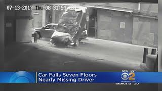 Woman Survives Car's 7-Floor Plunge Into Ground