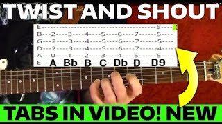 Twist and Shout - The Beatles - Guitar Lesson WITH TABS!