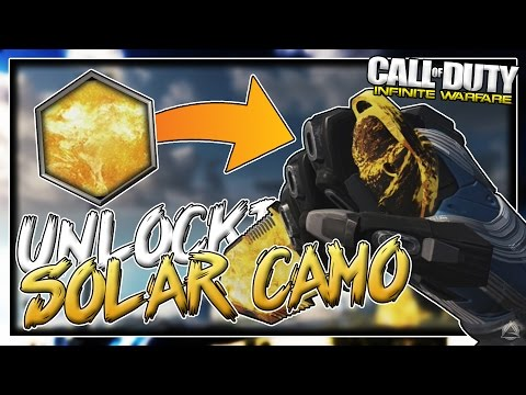 UNLOCKING SOLAR CAMO on COMBAT KNIFE! [Infinite Warfare Road To Black Sky Camo]
