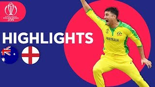 Finch & Starc Star At Lord's | Australia Vs England   Match Highlights | Icc Cricket World Cup 2019