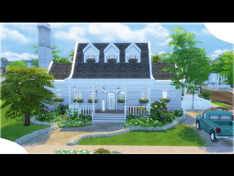The Sims 4: House Building || Classic Cape Cod #DesignandDecorate