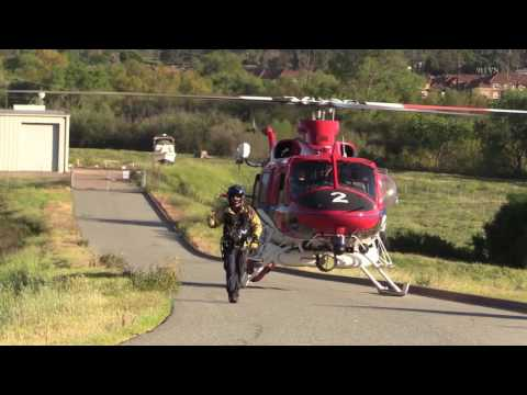 San Diego: Mission Gorge Helicopter Rescue 03292017