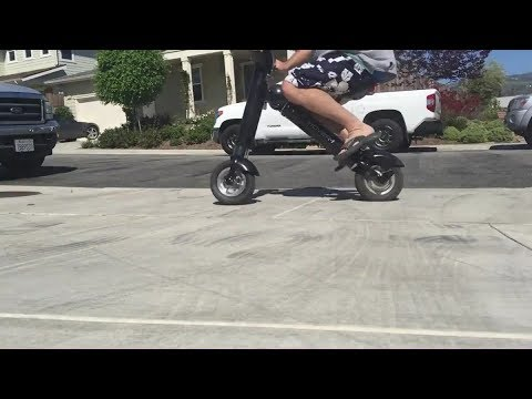 ET-King [Hype Hover-1] Electric Moped Scooter Folding E-Bike Review Riding Store-012