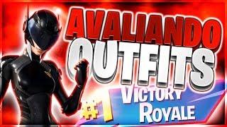 🔴 Fortnite - AVALIANDO OUTFITS AO VIVO! COM INSCRITOS! USEM O CÓDIGO : SHUTDOWN #ad