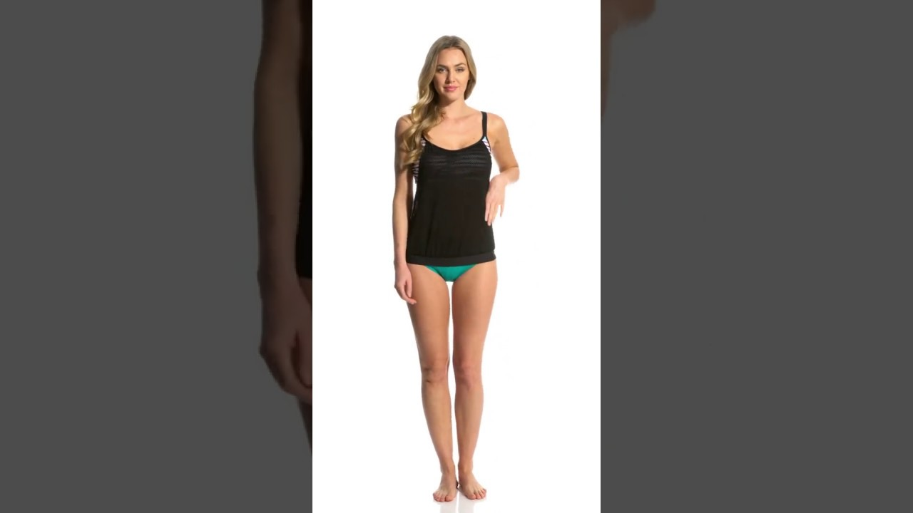 53bffcf99152c Next Women's Perfect Alignment Double Up Tankini Top (D-Cup) |  SwimOutlet.com