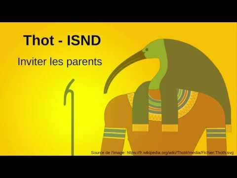 6. Inviter les parents sur la plate-forme Thot