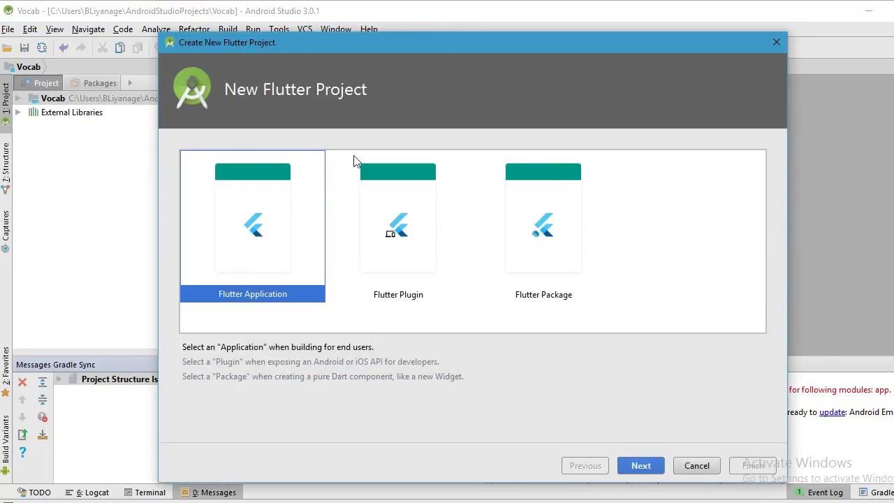 Configure Flutter SDK in Android Studio create + run + hot reload