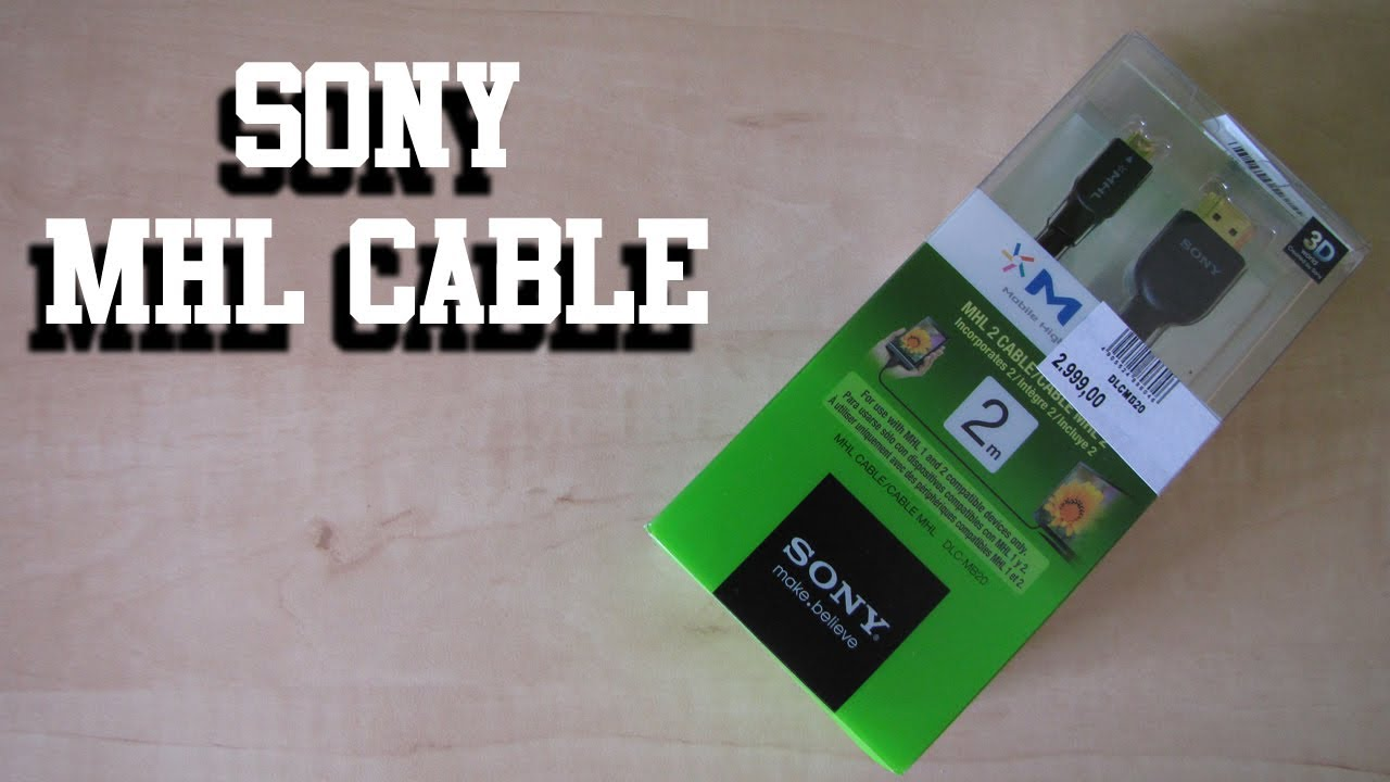 Sony MHL cable