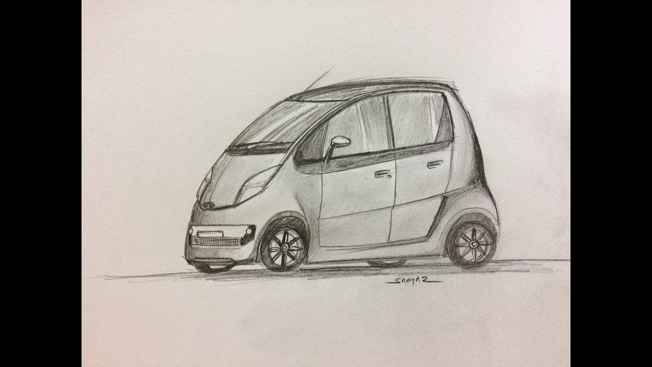 how to draw car sketch