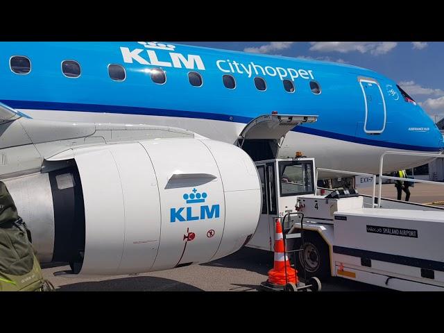 KLM flyger med biobränsle från Växjö