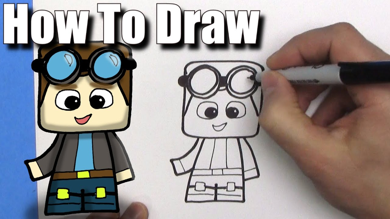 How To Draw A Cute Cartoon Dantdm Easy Chibi Step By