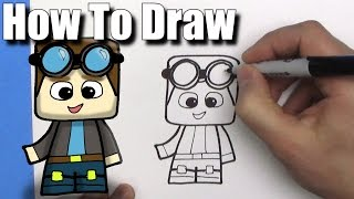 How To Draw a Cute Cartoon DanTDM - EASY Chibi - Step By Step - Kawaii
