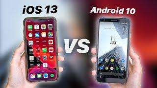 iOS 13 vs Android 10 | Darkmode + Gestures Comparison