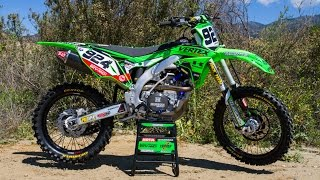 The 2016 Kawasaki KX450F has some solid features, including a poten...