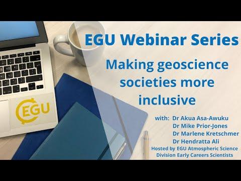 EGU WEBINARS - Making Geoscience Societies More Inclusive