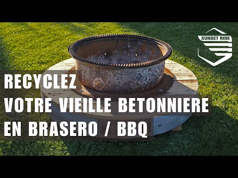 Tuto Fabriquer Recycler Betonniere En Brasero Barbecue Recycle