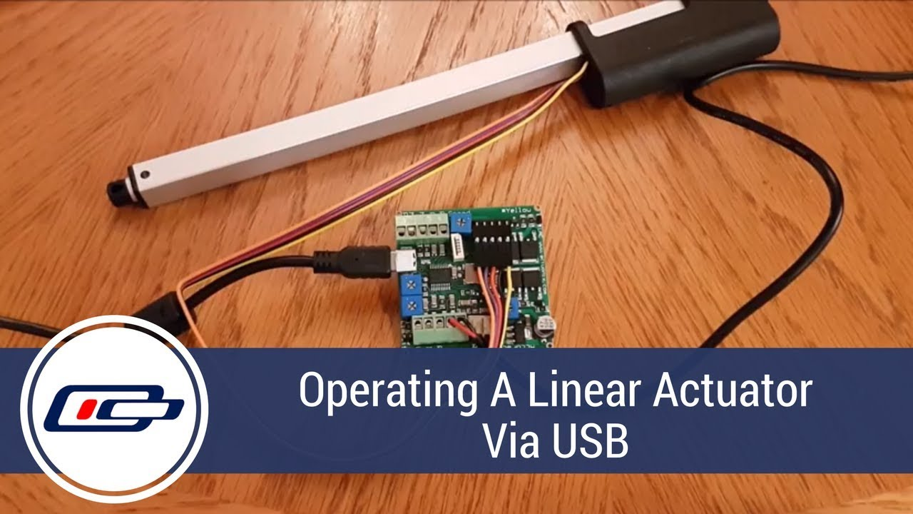 Linear Actuator Control Board Operation Via Usb Youtube 24 Volt Wiring