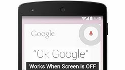 'Ok google' while screen is turned off