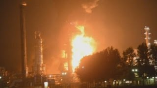WATCH: Explosions cause huge fires at Shell chemical plant