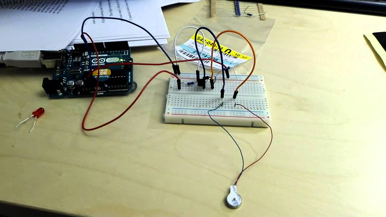 Arduino driving a vibrating motor.