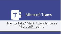 How to Take/Mark Attendance in Microsoft Teams
