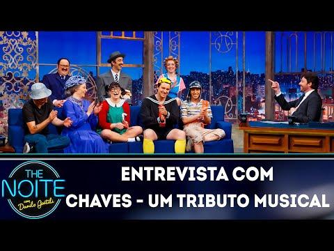 """Entrevista com elenco de """"Chaves - Um tributo al""""  The Noite 260819"""