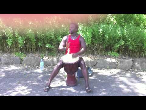 karamoko camara enjoy play djembe