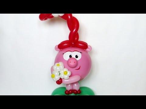 Нюша из воздушных шаров своими руками пошаговое фото