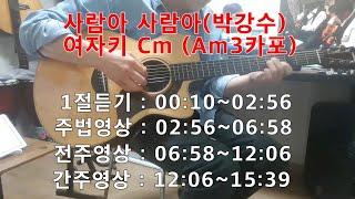 사람아 사람아(박강수) 여자키 통기타 강좌