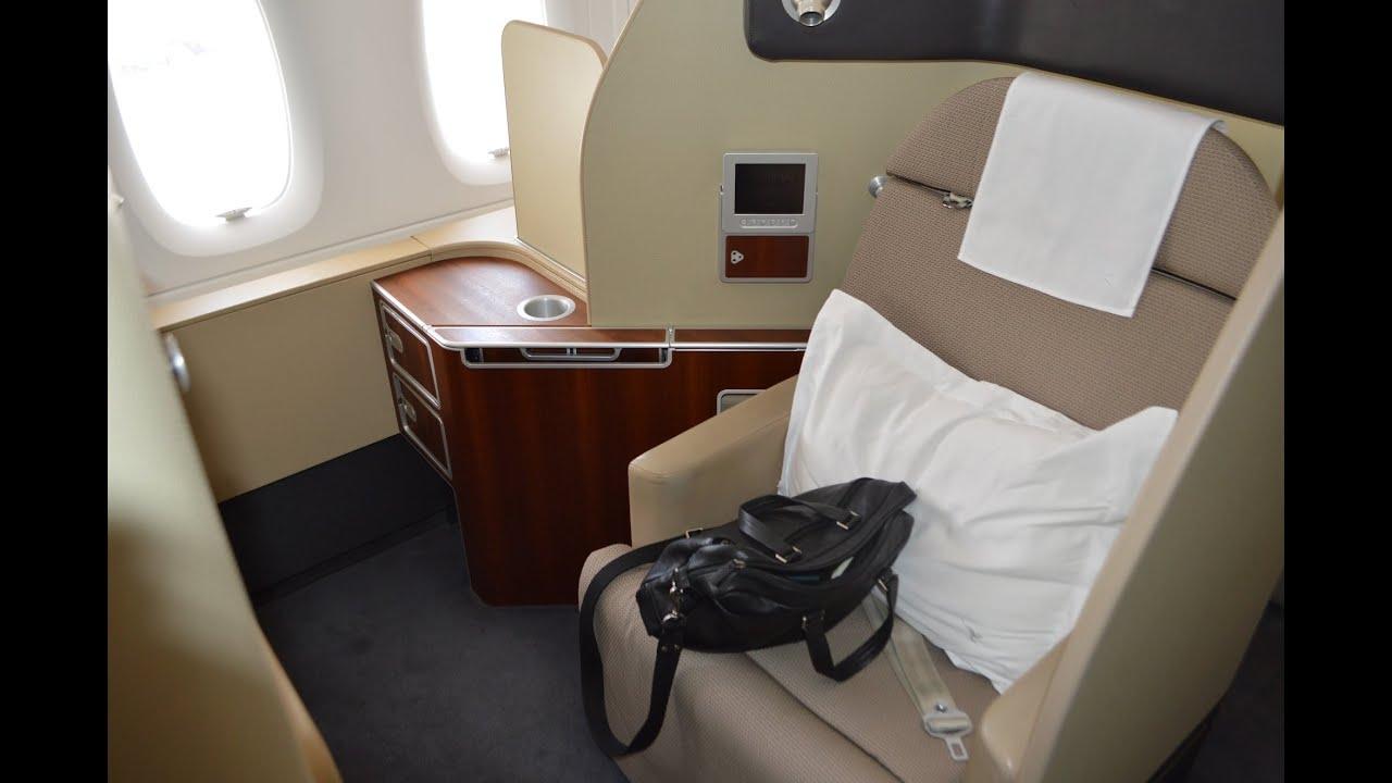 Qantas First Class On The A380 Melbourne To Dubai Qf9 Youtube