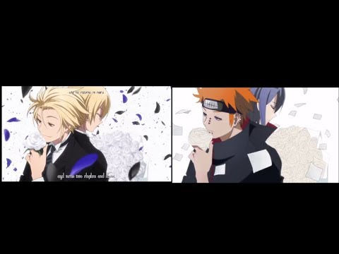 [MAD] Naruto x Kekkai Sensen ED Parody Side-by-Side Comparison