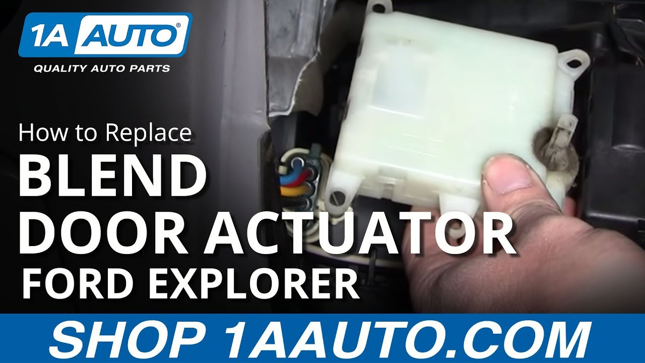 replace temperature blend door actuator   ford