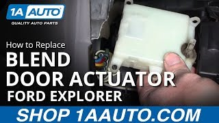 Repeat youtube video How To Install Replace Air Temperature Door Actuator Explorer Mountaineer 98-01 1AAuto.com