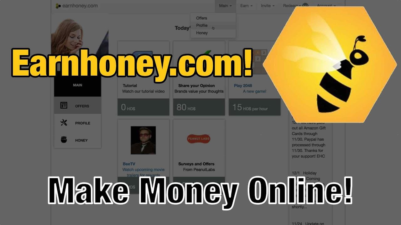 Earn Cash Watching Videos with Earnhoney.com - Make Money ...