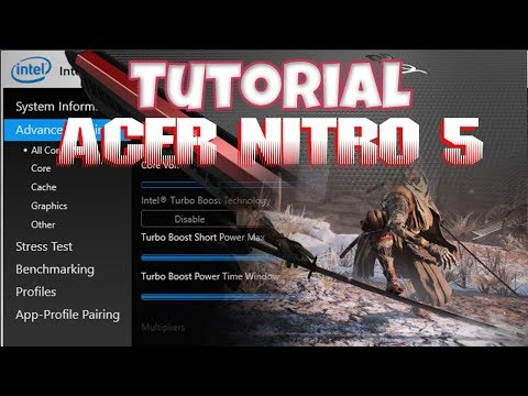 Intel XTU Acer Nitro 5 Undervolt Tutorial w/Profiles