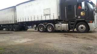 Splitting the trailers on a b double