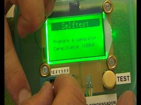 CALIBRADO - USO DEL COMPROBADOR MULTICOMPONENTES ESR Meter 12864 LCD