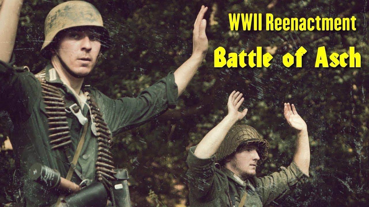 Download WW2 Reenactment - Battle of Asch ( Belgium ) German Wehrmacht -VS- U.S. Army