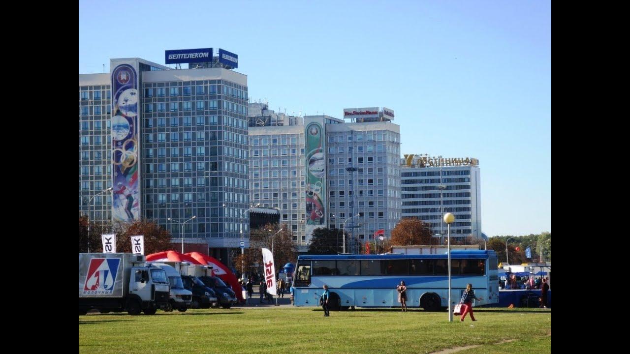 Минск на машине экскурсия. Minsk excursion from str.Kijevatova to the shopping center.